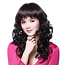 Capless High Quality Charming Blcak Long Wave Wig