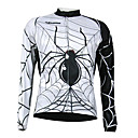 Kooplus Quick Dry Men's Long Sleeve Cycling Jersey (Spider Design)