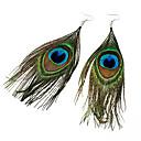 Naušnica Viseće naušnice Jewelry Party Legura / Tekstil Žene Zelena
