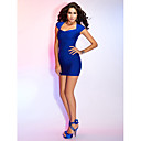 TS Couture® Cocktail Party / Holiday Dress - Royal Blue / Champagne / Pearl Pink Petite Sheath/Column Sweetheart Short/Mini Rayon