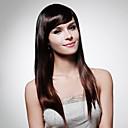 nadolijevanja extra dugo najviše ocjene kvalitete sintetička tamno smeđe ravne kose perika