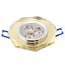 3W Stropna svjetla Ugradbena rasvjeta 3 Visokonaponski LED 315 lm Toplo bijelo AC 220-240 V