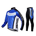 MYSENLAN Cycling Clothing Sets/Suits / Jerseys / Tights Men's Bike Wearable / Windproof / Thermal / Warm / Fleece Lining Long Sleeve