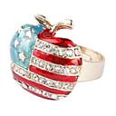 zvijezde i pruge oblik jabuke pozlaćeno prsten