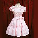 ワンピース/ドレス 甘ロリータ ロリータ コスプレ ロリータドレス ピンク ブルー ゼブラプリント 半袖 ミドル丈 ドレス のために コットン