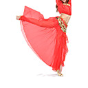 Belly Dance Skirts Women's Training / Performance Chiffon Split Front 1 Piece Blue Belly Dance / Performance Spring, Fall, Winter, Summer