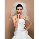Vjenčani velovi Pet-tier Shoulder Veils Ribbon Edge 19.69 u (50cm) Til SlonovačaRetka, Ball haljina, princeza, Plašt / stupac, Truba /