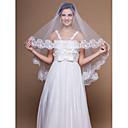Vjenčani velovi One-tier Elbow Burke Čipka aplicirano Edge 59.06 u (150cm) Til Bijela / SlonovačaRetka, Ball haljina, princeza, Plašt /