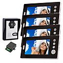 Bezdrátová kamera s nočním viděním se 7 palcovým monitorem (1kamera 4 monitory)