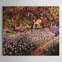 手描き 油絵 クロード·モネ ガーデン 中枠付き HB-950