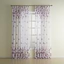 抗™(1パネル)国の花の紫色の薄手のカーテン