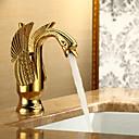 Art déco/Retrò Installazione centrale Una manopola Un foro in Ti-PVD Lavandino rubinetto del bagno