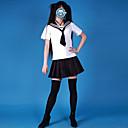 Cosplay Nošnje Kostim za party Student/Školska uniforma Mornarski Karijera kostime Festival/Praznik Halloween kostime Obala Crn Jednobojni