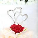 ケーキトッパー 非パーソナライズ ハート 結婚式 / 記念日 / ブライダルシャワー ラインストーン 銀 クラシックテーマ PVCバッグ