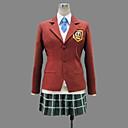 Inspirirana My Little Monster Shizuku Mizutani Anime Cosplay Kostimi Cosplay Suits / School Uniforms Kolaž Crvena Dugi rukavKaput / Maja