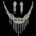 Luxusní slitina se šperky štrasové žen sada včetně náhrdelník, náušnice