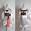 Inspirovaný Vocaloid Meiko Video Hra Cosplay kostýmy Cosplay šaty / Kimono Patchwork Biały Bez rukávůK šatům / Rukávy / Korzet / Pásek /