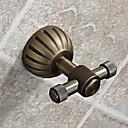 """バスローブフック アンティークブラス ウォールマウント 85x70x50mm (3.35x2.8x2"""") 真鍮 アンティーク"""