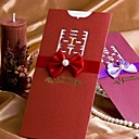 """Přizpůsobeno Zabalení do kapsy Svatební Pozvánky Pozvánky-50 Kusů v sadě Klasický styl Perlový papír 8 ½""""×4"""" (20,8*10,3 cm) Stuhy"""