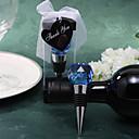 modrá křišťálová koule vína zátkou