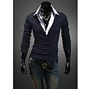 Obično Muška Majica s rukavima Posao Dugih rukava-Crna / Plava / Crvena / Bijela / Siva
