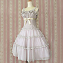 Jednodílné/Šaty Klasická a tradiční lolita Princeznovské Cosplay Lolita šaty Světle fialová Jednobarevné Bez rukávů Medium Length Šaty Pro