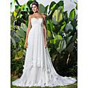 Lanting Bride® A-Linie / Princess Drobná / Nadměrné velikosti Svatební šaty - Klasické & nadčasové / Elegantní & luxusníExtra dlouhá