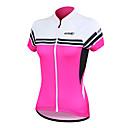 SANTIC® Biciklistička majica Žene Kratki rukav BiciklProzračnost / Quick dry / Anatomski dizajn / Ultraviolet Resistant / Prednji Zipper