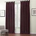 Dva panely Window Léčba Moderní , Jednolitý Polyester Materiál Blackout Záclony závěsy Home dekorace For Okno
