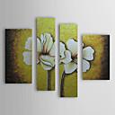 iarts®hand bemalt floralen Ölgemälde mit gestreckten Rahmen - Set von 4