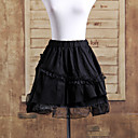 kratka crna pamučna slojevit volane Gothic Lolita suknja