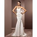 Lanting Bride® Mořská panna Drobná / Nadměrné velikosti Svatební šaty - Elegantní & moderní / Elegantní & luxusní Lesk a flitryDlouhá