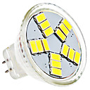 4W GU4(MR11) LEDスポットライト MR11 15 SMD 5630 420 lm ナチュラルホワイト AC 12 V