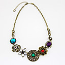 Gorgeous Alloy With Rhinestone/Flower Women's Necklace