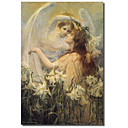 Tiskano Canvas Art Vintage Swinstead, dva anđela strane Apple Vintage Collection s produljenom Frame
