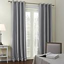 neoklasicistní dva panely proužek šedý obývací pokoj polyester panelové záclony závěsy