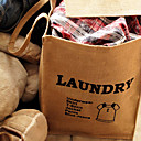 Linen Cloth Laundry Storage Bag with Two Handles