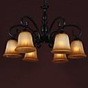 60W * 6 Tradicionalna 6 Light Dolje Rasvjeta luster s kovrčavu Arm