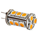 G4 3W 15x5050SMD 150-180LM 3000-3500K Warm White Light LED žarulja Corn (12V)