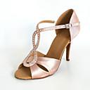 Chaussures de danse (Noir/Jaune/Rouge/Blanc/Bleu/Rose/Violet/Or Satin - Danse latine/Salle de bal