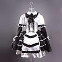 Dugi rukav Kratka crna i bijela satena Gothic Lolita prerušiti