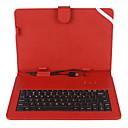 USBキーボードとスタンドが付いている10インチのメッシュストライプ柄PUレザーケース