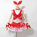 Inspirirana PrettyCure Cure Melody Anime Cosplay nošnje Cosplay Suits / Dresses Kolaž Crvena Bez rukava Top / Suknja / Narukvice / Luk