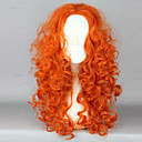 Cosplay Wigs Hrabar Merida Narančasta Medium Anime Cosplay Wigs 55 CM Otporna na toplinu vlakna Female