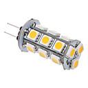 2W G4 LEDコーン型電球 T 18 SMD 5050 100-120 lm 温白色 AC 12 V