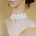 Elegantna princeza Shinging Pearl bijela čipka Classic Lolita Ogrlica