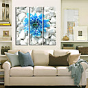 Protezala Canvas Art Cvjetni Plavi cvijet u kamenu Set od 3