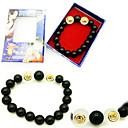 Jewelry Inspirirana One Piece Portgas D. Ace Anime Cosplay Pribor Narukvice Crna Artificial Gemstones Male