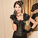Black Brocade vzor Gothic Lolita Vykostěné korzet