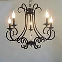 Svíčka Funkce Lustr, 5 Light, Classic Umělecká malba Zpracování kovů